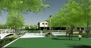 Un dettaglio dei rendering del progetto del Centro equestre di Caldogno