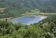 Il Lago di Fimon visto dall'alto, nel territorio comunale di Arcugnano