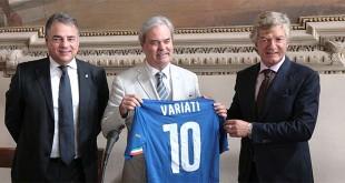 Da sinistra: Giorgio Bottaro, Achille Variati e Giancarlo Antognoni
