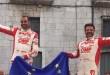 Nella foto di Domenico Cifaldi, la gioia di Pedro e Baldaccini per la conquista del titolo europeo