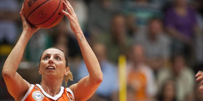 Laura Macchi, autrice di 14 punti nella trasferta turca contro Fenerbahce