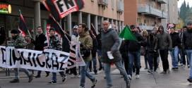 Manifestazione di Forza Nuova a Vicenza, nel novembre 2013