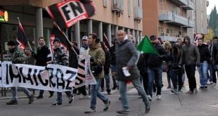 Una manifestazione, a Vicenza, di Forza Nuova, di qualche anno fa...