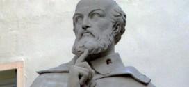 Dettaglio del monumento ad Andrea Palladio, a Vicenza, in piazzetta Palladio