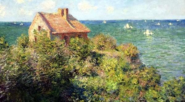 Claude Monet, La casetta del pescatore sugli scogli, 1882, olio su tela. Boston, Museum of Fine Arts