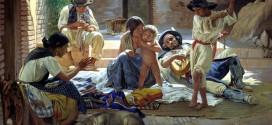 Gente romaní in Spagna, dipinto di Yevgraf Sorokin, 1853