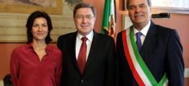 Alessandra Moretti, Enrico Giovannini e Achille Variati