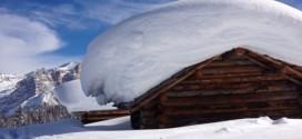 Molta neve sulle montagne venete