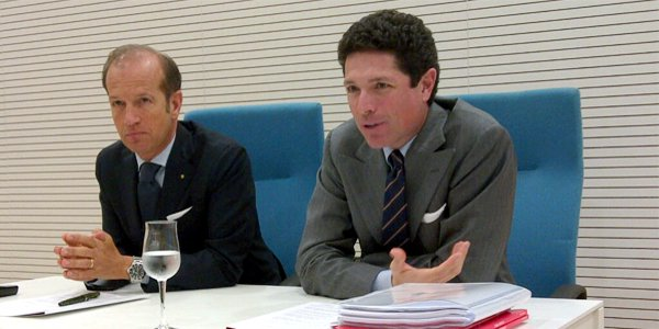 Da sinistra, Corrado Facco e Matteo Marzotto, rispettivamente direttore generale e presidente di Fiera di Vicenza
