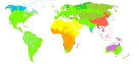 Le famiglie linguistiche del mondo - Fonte immagine: http://it.wikipedia.org/wiki/Lingua_(linguistica)