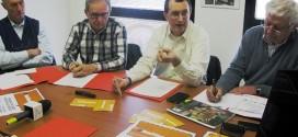 Da sinistra: Eusebio Bizzotto, Roberto Merlo, Igino Canale, Mario Dalla Valle