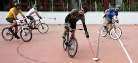 Bike polo nel nuovo impianto polivalente di Via Bellini, a Vicenza