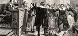 Illustrazione del 1876 che rappresenta il processo a Mary Walcott, ritenuta una strega perchè parlava in modo strano