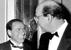 Berlusconi e Craxi, in una immagine emblematica del 1984
