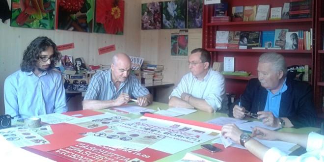 Da destra a sinistra: Danilo Toccane, Igino Canale, Luigi Pavan e Stefano Dal Pra Caputo