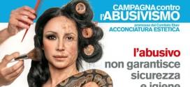 Dettaglio di un messaggio della campagna di Confartogianato contro l'abusivismo nel settore della bellezza manifesto