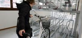 Il bicipark di Vicenza, in contra' Ponte San Paolo