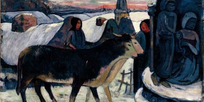 """Paul Gauguin, """"Notte di Natale"""", 1902-1903, olio su tela, cm 71 x 82,5, Indianapolis Museum of Art"""