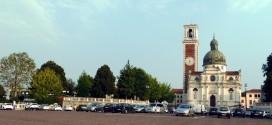 ll santuario di Monte Berico ed il piazzale davanti ad esso, dal quale si domina dall'alto la città di Vicenza