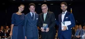 Da sinistra: Giorgia Surina, Matteo Marzotto, Eli Izhakoff (Jewellery Corporate Social Responsibility Award) e Cristiano Seganfreddo
