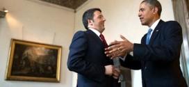Il presidente del consiglio Matteo Renzi con il presidente americano Barak Obama