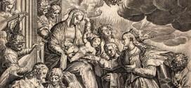 Agostino Carracci da Paolo Veronese, Sposalizio mistico di Santa Caterina, particolare dal dipinto ora conservato a Venezia, Gallerie dell'Accademia