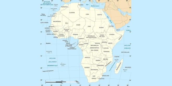 Il continente africano - Fonte immagine Wikipedia.org (CC 3.0)