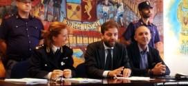 La dirigente della volanti Elena Peruffo, il dirigente della squadra mobile Michele Marchese e l'ispettore superiore Antonello Bettini