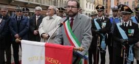 Il Vicesindaco di Vicenza Jacopo Bulgarini d'Elci, questa mattina durante il suo intervento