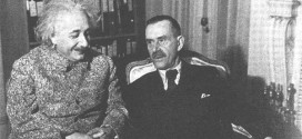 Thomas Mann con Albert Einstein, nel 1938