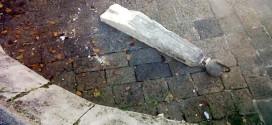 L'obelisco delle Scalette di Monte Berico che è stato oggetto di vandalismo in settembre