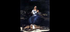 """La """"Pietà"""" di Sebastiano Dal Piombo, databile intorno al 1516, olio su tela - Museo Civico di Viterbo"""