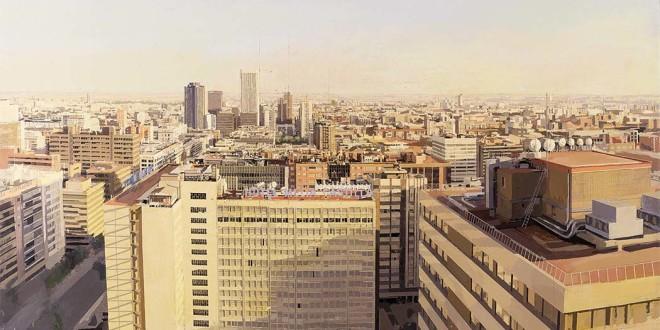 """Antonio López García, """"Madrid vista da Capitán Haya"""", 1987-1996"""