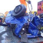 L'auto del ragazzo ferito gravemente
