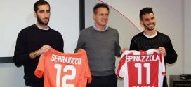 Il direttore generale del Vicenza Calcio, Andrea Gazzoli, tra i due nuovi acquisti della società