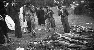 Recupero di resti umani dalla foiba di Vines, località Faraguni, presso Albona d'Istria, negli ultimi mesi del 1943