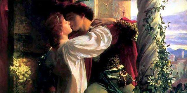 """Romeo and Juliet"", dipinto di Frank Dicksee, 1884"
