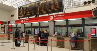 La biglietteria della stazione di Vicenza