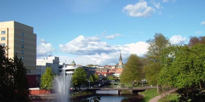 Veduta sul parco cittadino della città svedese di Borås - Foto da: Wikipedia (CC BY-SA 3.0)
