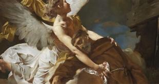 """""""Estasi di San Francesco"""", di Giambattista Piazzetta (dettaglio)"""