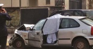 L'auto con la vittima a bordo