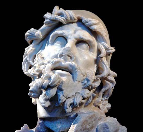 Testa di Odisseo rinvenuta nella Villa di Tiberio a Sperlonga