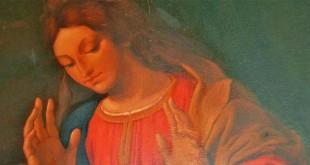 Uno degli affreschi restaurati nella chiesetta Revese