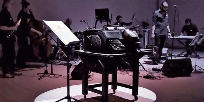 Il dattilomusicografo, presentato durante la serata di Barbarano (Foto di Michelle Danella Suarez)