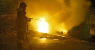 L'incendio di questa notte in via Palemone