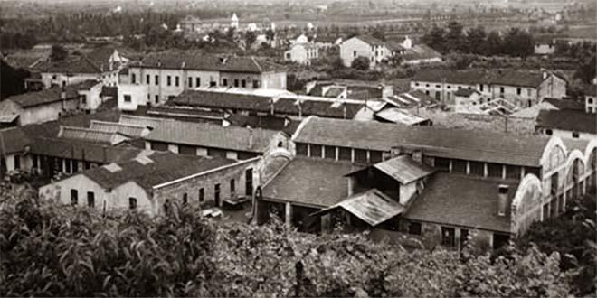 La fabbrica Laverda in un'immagine degli anni '40