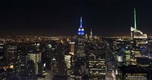 Veduta notturna di New York