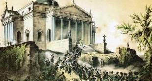 Gli austriaci conquistano l'altura della villa La Rotonda (Litografia austriaca dei fratelli Adam