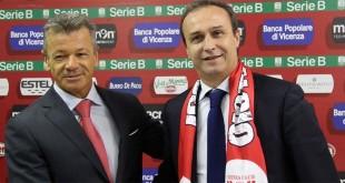 Tiuziano Cunico e Pasquale Marino, 8 mesi fa. Adesso Cunico si è dimesso e Marino sarà il tecnico del Catania