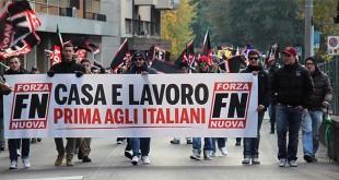 Una manifestazione di Forza Nuova, a Vicenza, di un po' di tempo fa